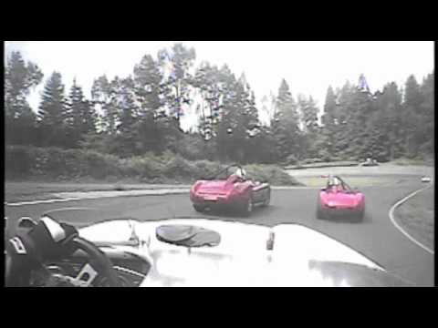 Crash on Lap One at Kent