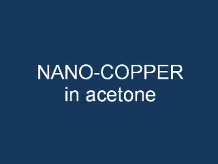 Copper nanoparticles by laser ablation