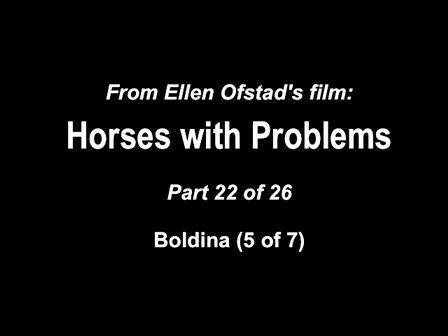 22-26 Horses with Problems - Boldina 5-7