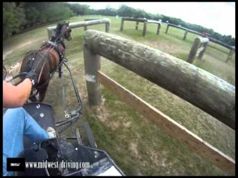 Helmet Cam - FEI Single Pony - Obstacle Driving