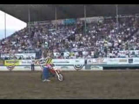 "The ""Wild Child"" Jumps Six Horse Hitch with a Motorcycle!"