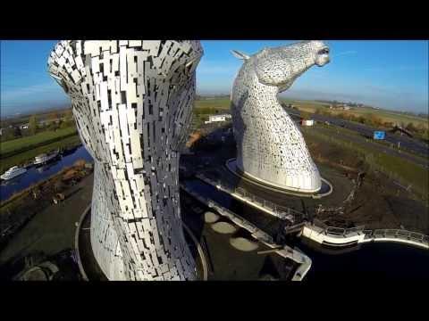The Kelpies, Scotland. Sculpture by Andy Scott