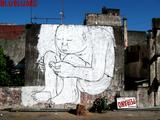 Muto - An ambiguous animation painted on public walls