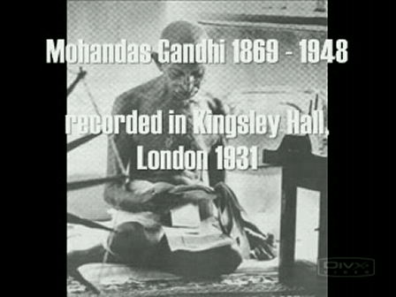 Gandhi - God Is (Spiritual Message) (BBC London 1931)