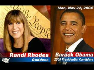 Randi Rhodes interviews Obama November 22nd 2004
