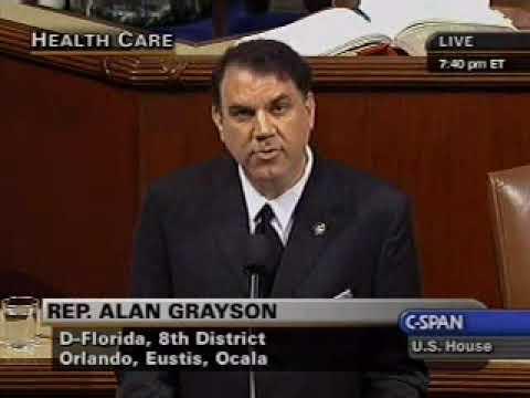 Names of the Dead    Congressmen Alan Grayson addresses Congress part 1