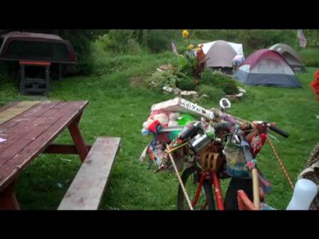 Granpa Woodstock at Hectors 41st reunion of Woodstock