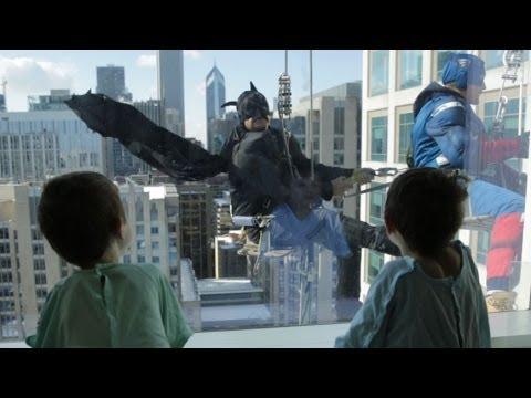 Superhero Window Washers Bring Joy To Sick Children