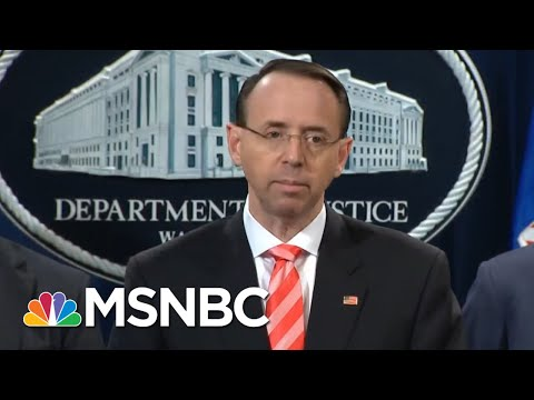 DOJ Gets Wise About Republicans Obstruction of Justice efforts MSNBC Rachell Maddow Mueller probe