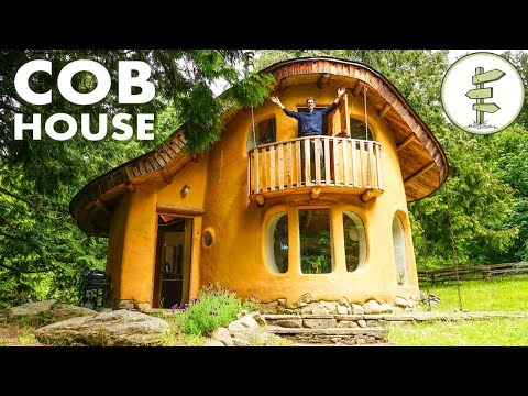 Incredible Cob House Tour - A Sustainable Green Building