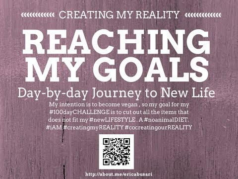 Creating my Reality by Reaching my GOALS in LIFE 100day Challenge DAY 044