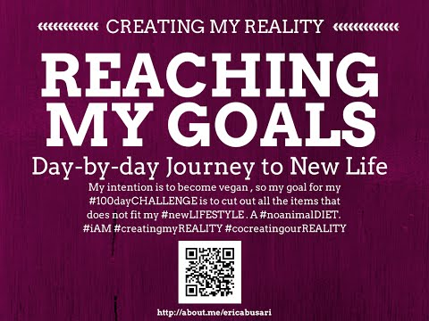 Creating my Reality by Reaching my GOALS in LIFE 100day Challenge DAY 095