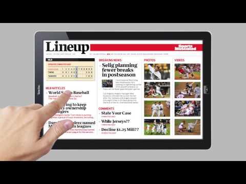 La lectura de revistas en el iPad...
