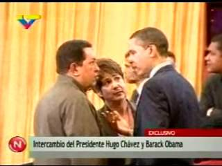 President Obama and Chavez Video Emerges A Tense Exchange