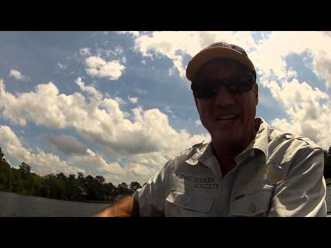 Bruce Condello with nearly 3 pound bluegill caught at Richmond Mill on GoPro camera
