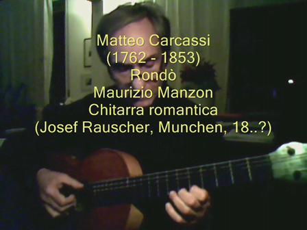 Matteo Carcassi  Rondo - Maurizio Manzon -  Romantic guitar