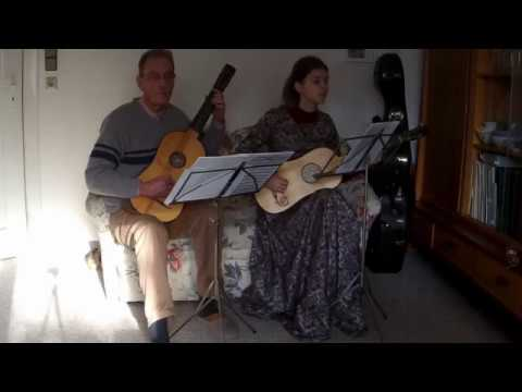 1. Affettuoso -  Nathanael Diesel (1692 - 1745) Suite in C for 2 Baroque Guitars