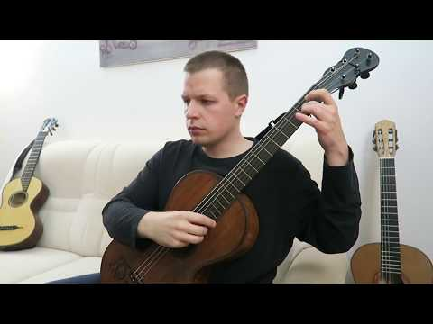 J. S. Bach - Cello Suite No. 1, BWV 1007 - No. 1 Prelude - authentic J. G. Stauffer guitar