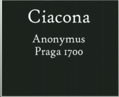 Ciacona Praga 1700