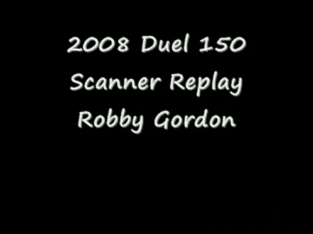 2008 Daytona Duels Scanner Replay