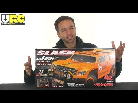 Traxxas 2WD Slash Robby Gordon Dakar Edition unboxed