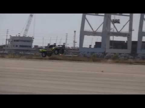 Stadium SUPER Trucks Ramp Test Long Beach 4/20/13