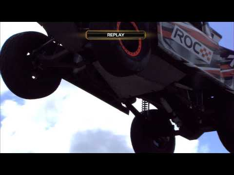 Robby Gordon and Terry Grant jump the Stadium Super Trucks (Race Of Champions Barbados 2014)