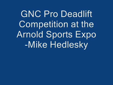 GNC Pro Deadlift Competition- Mike Hedlesky
