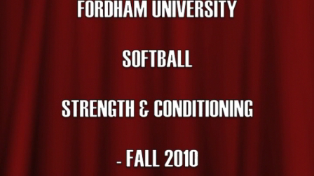 FORDHAM UNIVERSITY SOFTBALL FALL VIDEO