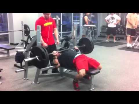 """Phillip Brewer aka """"UnRealPhil"""" benching 225 for 39 reps at end of workout. Team BOAD"""