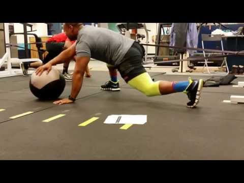 Banded Hip Capsule Spiderman Lunge Stretch with External/Internal Ball Roll