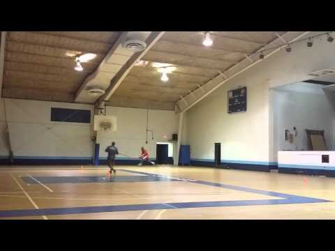 Heavy Ball (Bungy Cord) Resistance Dribbles to Layup