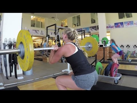 Lindsey Vonn Summer Workout at the Center of Excellence