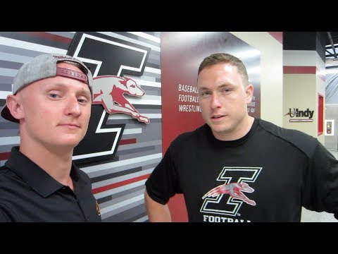 Chris and Bart about lifting part of UIndy Swimming