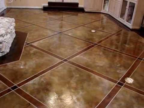 acid stain floor #47