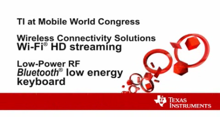MWC demo: BLE keyboard and Wi-Fi for HD streaming