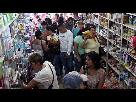 MILES de VENEZOLANOS CRUZARON LA FRONTERA ,POR ALIMENTOS