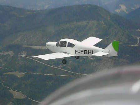 CH 640 FLIGHT OVER FRENCH ALPS