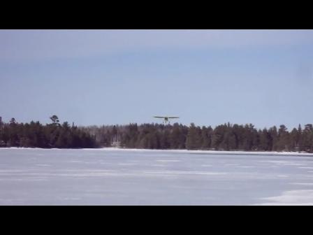 C-GBQX Landing on the lake
