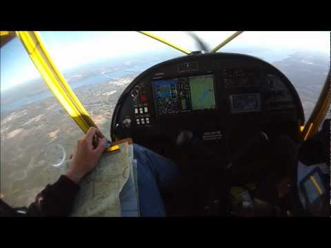 Cross country flight with the STOL CH 750 - Sebring 2012 trip