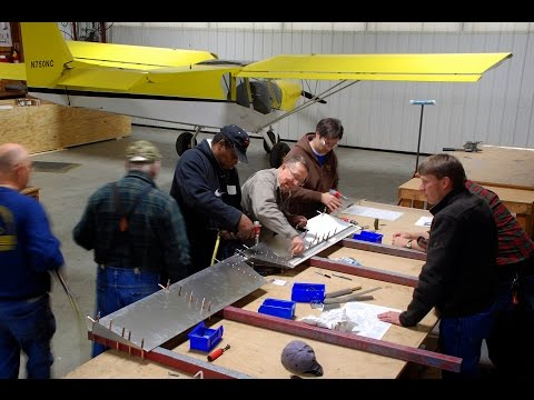Building the Tail Kit at the Zenith Aircraft factory