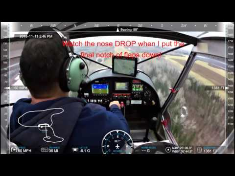 CH750 STOL - Landings with full flaps!