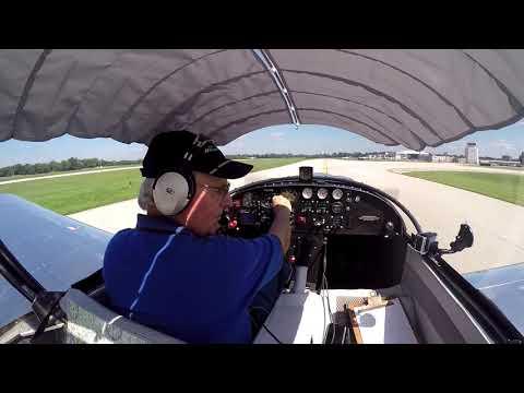 N129BZ test flight #4, landing at KLOU