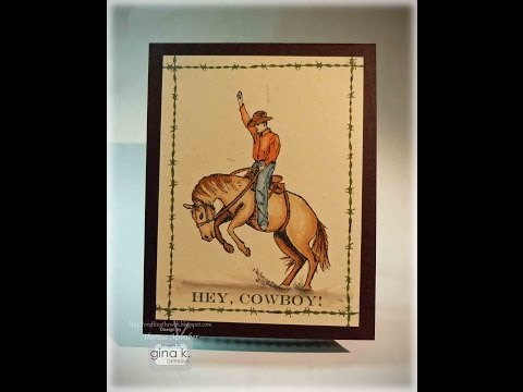 Hey Cowboy Card Tutorial by Theresa Momber