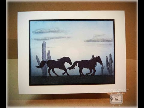 Wild Horses Card Making Tutorial- by Theresa Momber