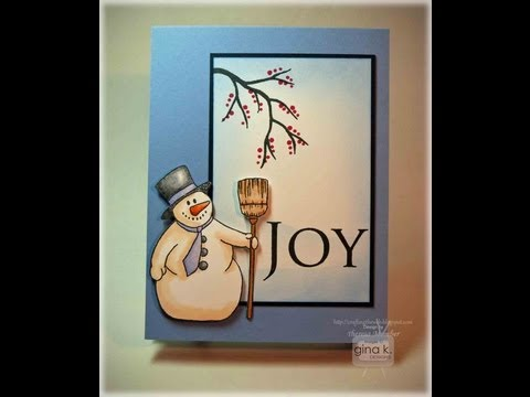 Happy Snowman Card Tutorial