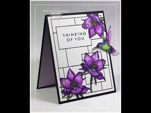Framed Flowers Alcohol Coloring Tutorial