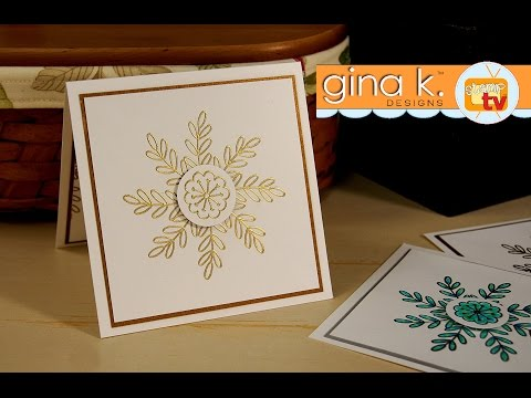 "Snowflake Card With ""You're The Best"" Mini Stampset"