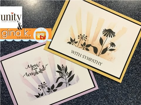 Gina K  Designs & Unity Stamp Co- Hello Lovely Stenciled Card Project
