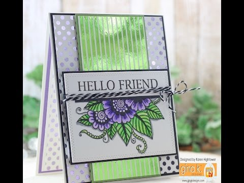 Gina K. Designs Foil-Mates And Zig Clean Color Markers
